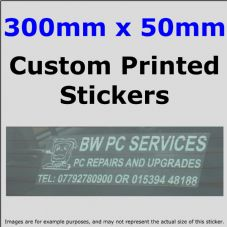 50mm x 300mm Custom Printed Advertising,Fun Stickers-Windows,Bumper-Car,Taxi,Van,Business,Website